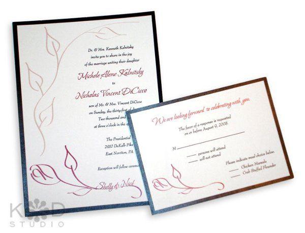 Tmx 1302193372614 KDinvitationsC Collegeville wedding invitation