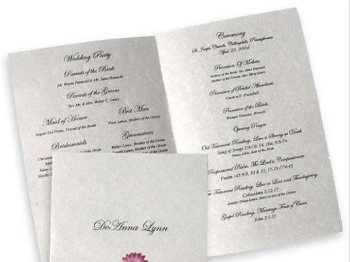 Tmx 1302193377224 DaisyProgramC Collegeville wedding invitation