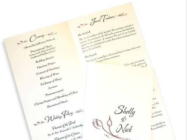 Tmx 1302193379177 RoseProgramC Collegeville wedding invitation