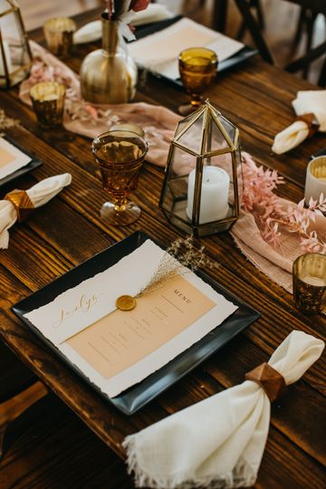Deckled Edge Menu + Place Card