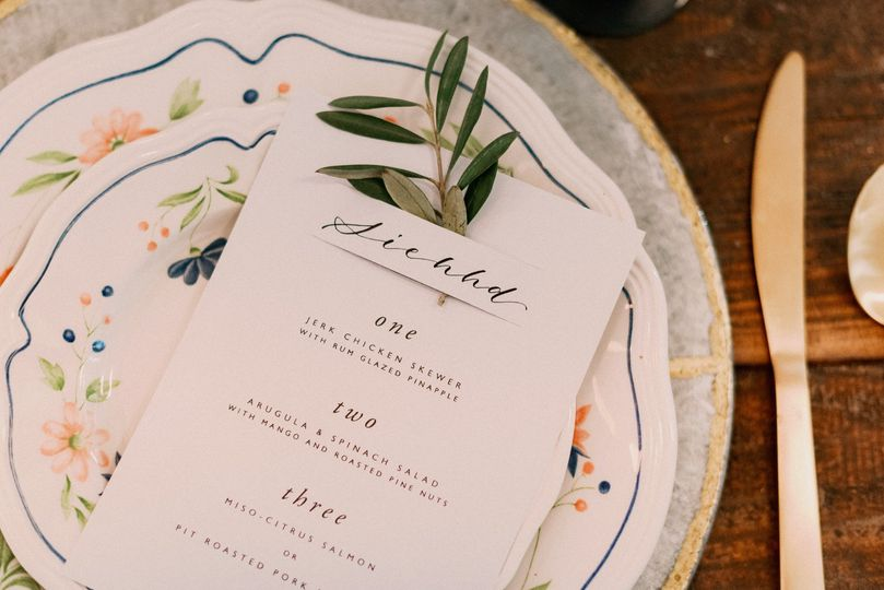 Menu + Place Card Combo