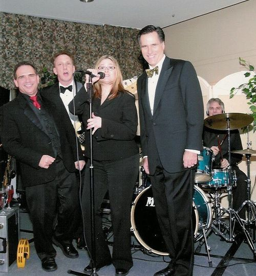 Brandy performing for MA Gov. Mitt Romney