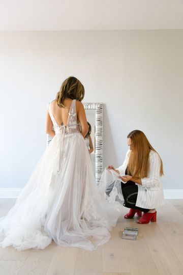 In-Home Bridal alterations