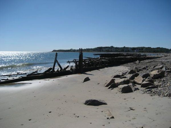 Barges Beach with Cuttyhunk in the distance