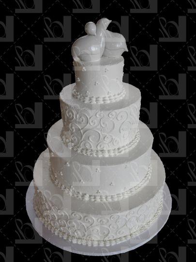 Vintage white cake