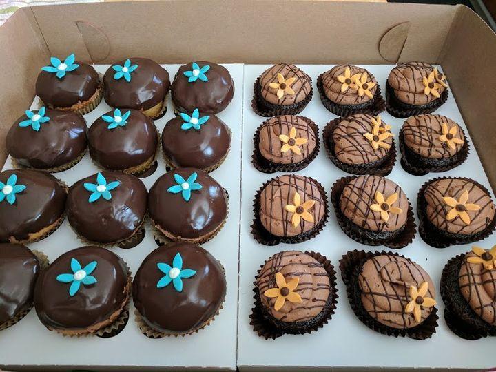 Custom tropical cupcakes