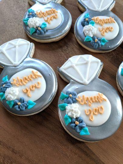 Bridesmaid thank you cookies