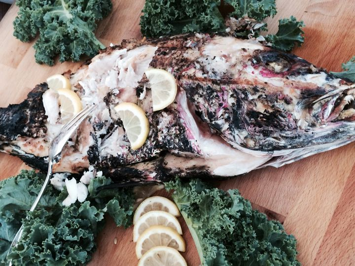 Whole Grilled Snapper Presentation