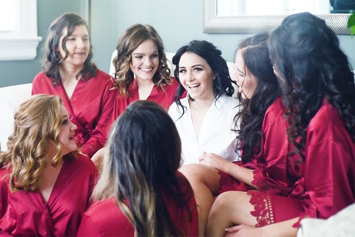 Becca with Bridesmaids
