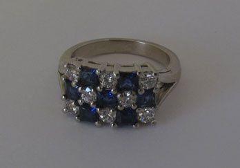 Tmx 1374439965324 Sapphirediamondring Boston wedding jewelry