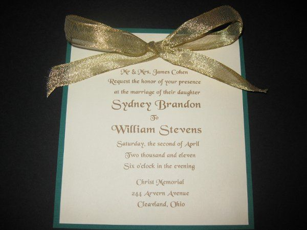 Tmx 1248313858859 IMG2128 Forest Hills wedding invitation