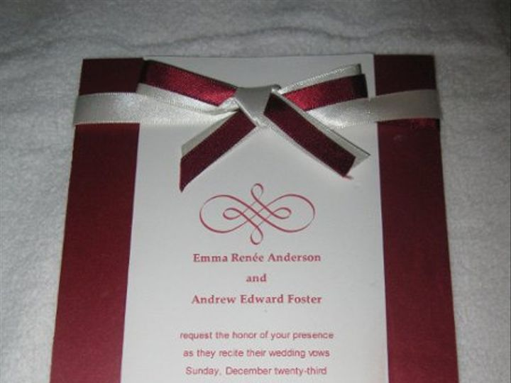 Tmx 1248314039452 IMG2131 Forest Hills wedding invitation