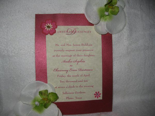 Tmx 1248314150624 IMG2154 Forest Hills wedding invitation