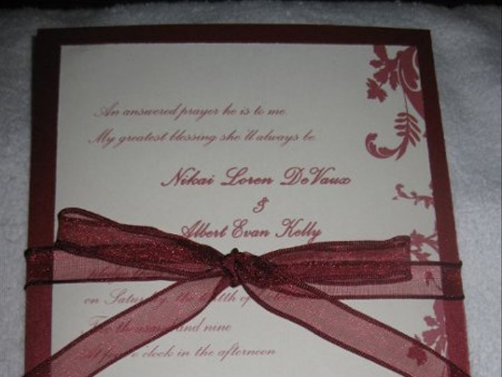 Tmx 1248314395031 IMG2161 Forest Hills wedding invitation