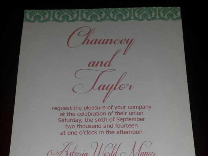 Tmx 1396323903471 1526641101519095510717231431392274 Forest Hills wedding invitation