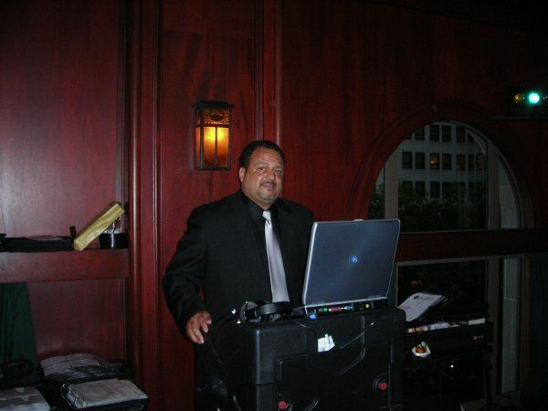 DJ Keith at the controls for Kelli Beard's 40th which was held at McCormick & Schmick's - Beverly...