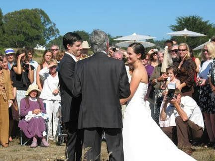 Wedding at Caspar Headlands James Sibbet officiating