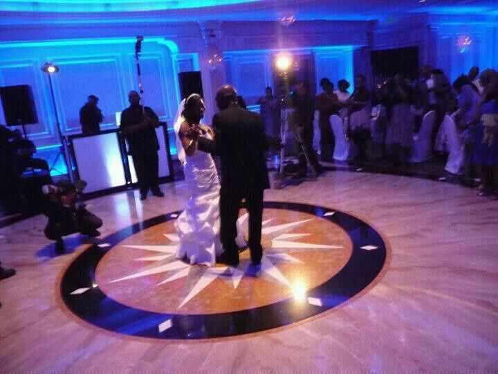 Couple dancing at the center