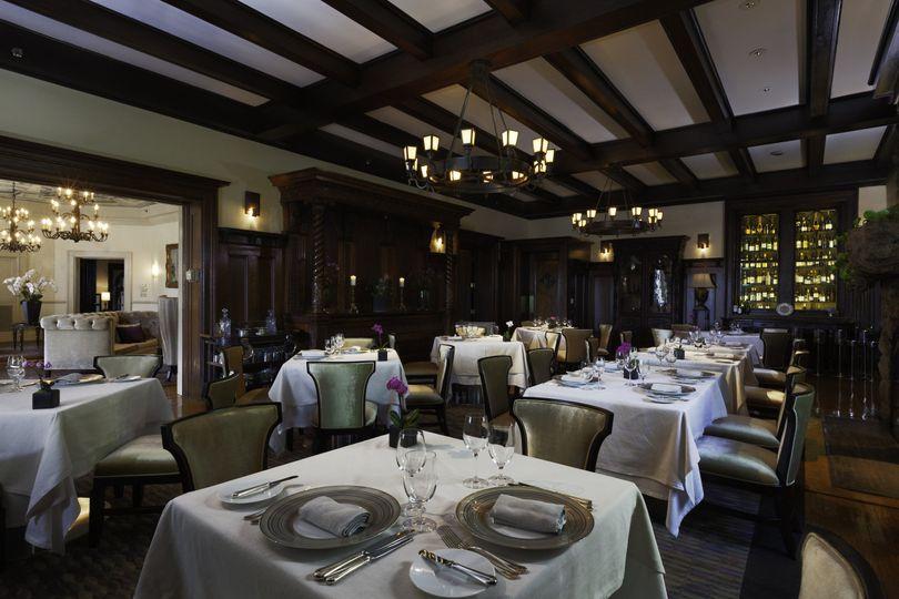 The oak room in equus restaurant