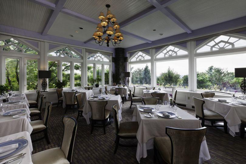 The garden room in equus restaurant