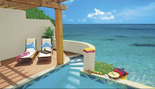Sandals La Toc in St. Lucia- Sunset Bluff Oceanfront 1B 2-Story Villa w/ Private Pool and Butler