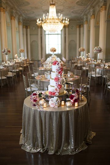 Coral and Gold Biltmore Weddin