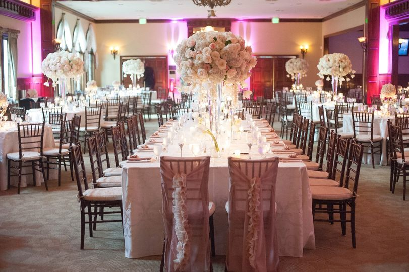 Blush Ballroom wedding