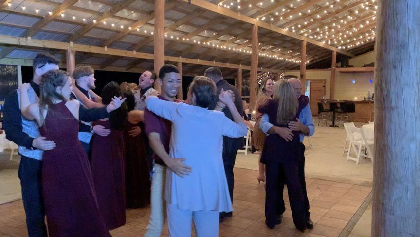 Spinning round the dance floor