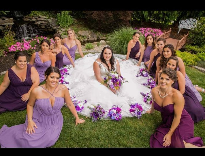 Makeup for bride and her squad