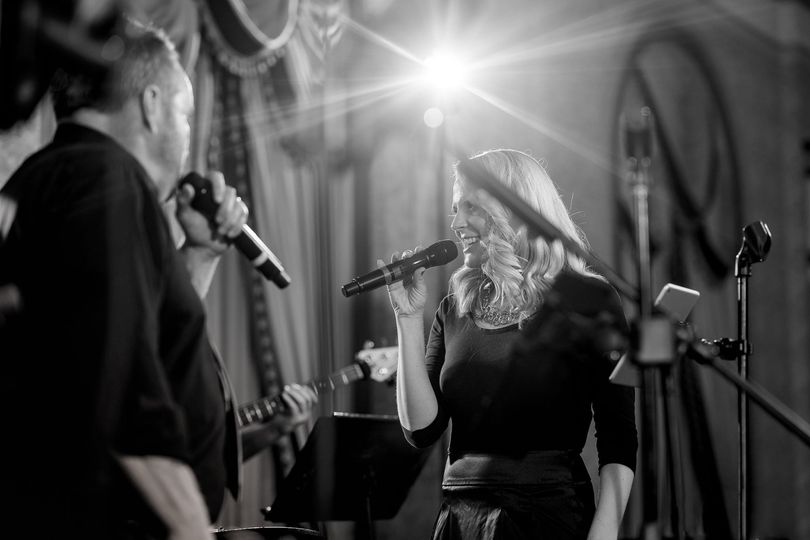 Mark and Brittany performing live