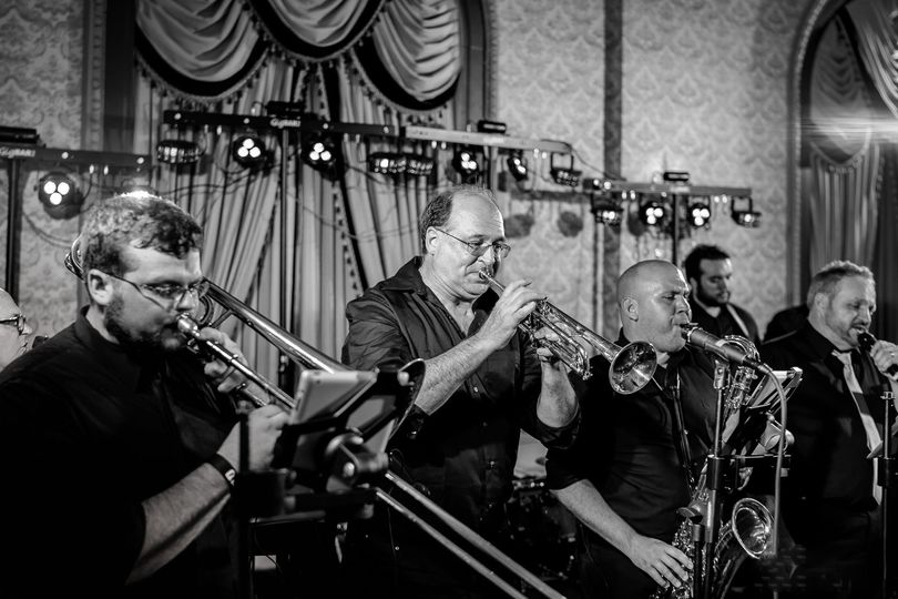 The band's horn section