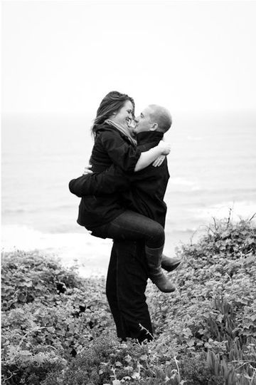 Couple embracing - Heather Scharf Photography