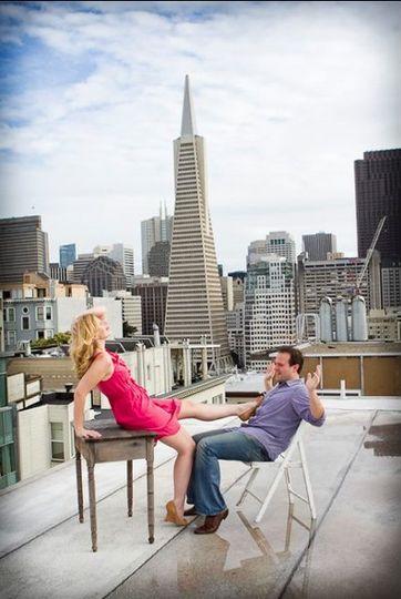 Couple having fun - Heather Scharf Photography