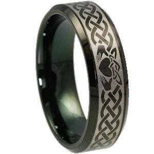 Claddagh Tungsten Ring