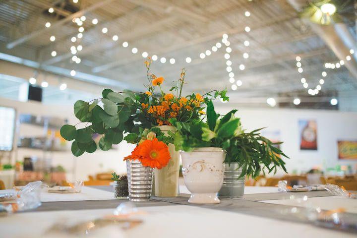 Vivid floral centerpieces