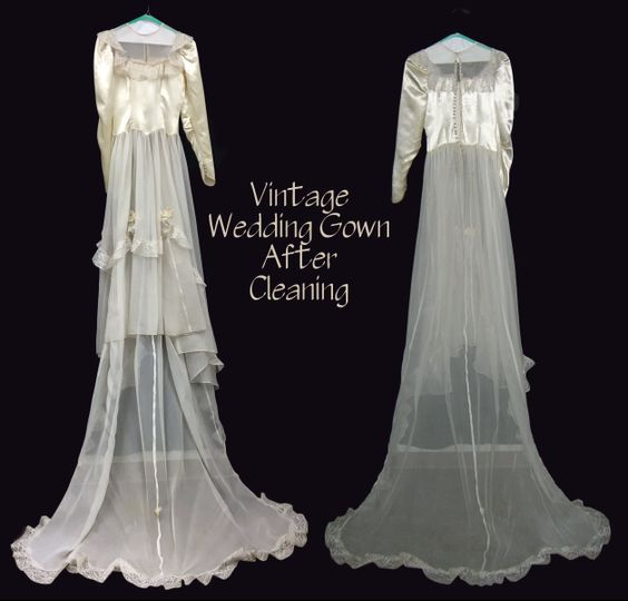 Sheer vintage gowns