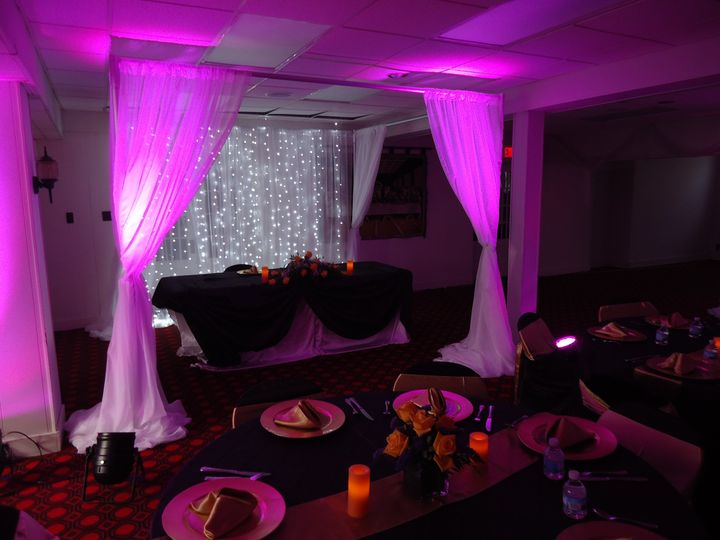 sweetheart table backdrop and surround