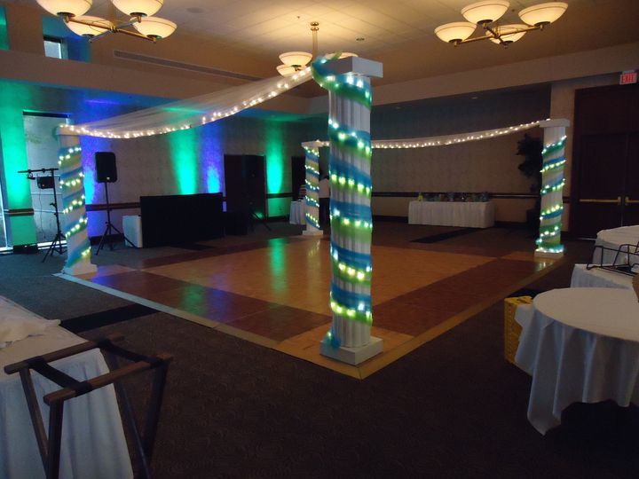 side view of dance floor tropical enclosure 2