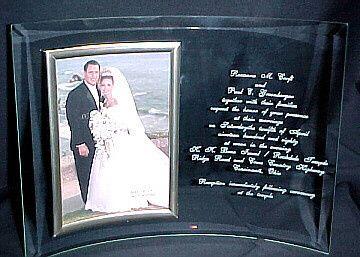 engraved wedding invitation frame