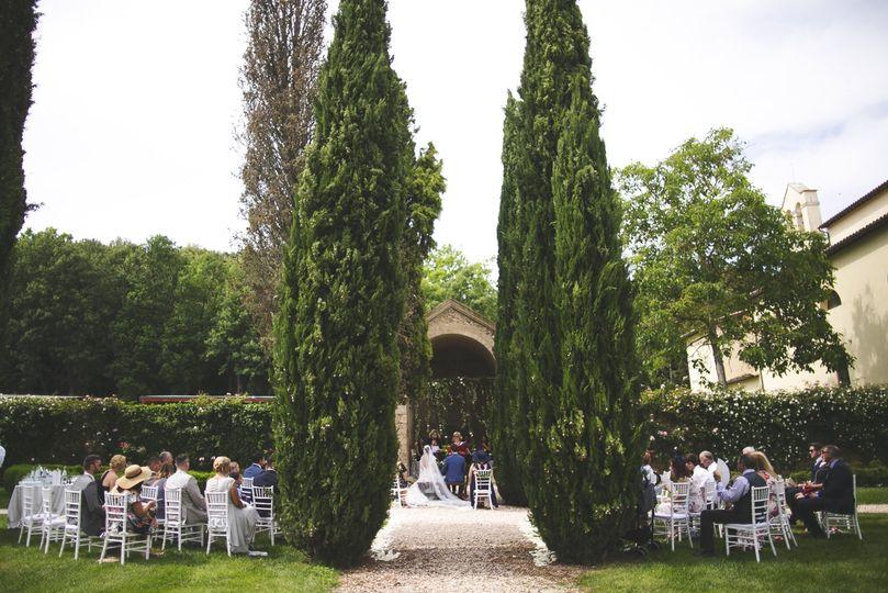 Civil ceremony - rose garden