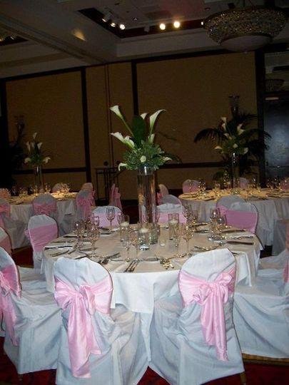 Calla lily centerpieces. Marriott Grand Ballroom Cleveland