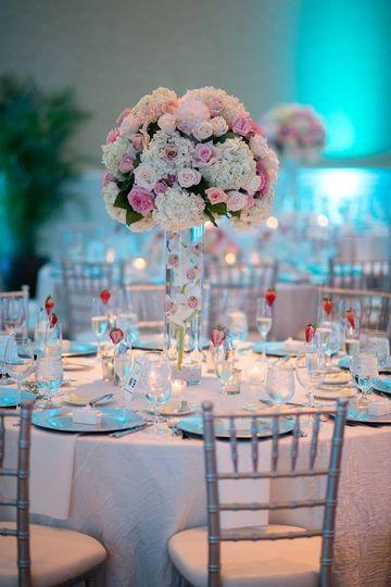 Blush & Blue wedding Table