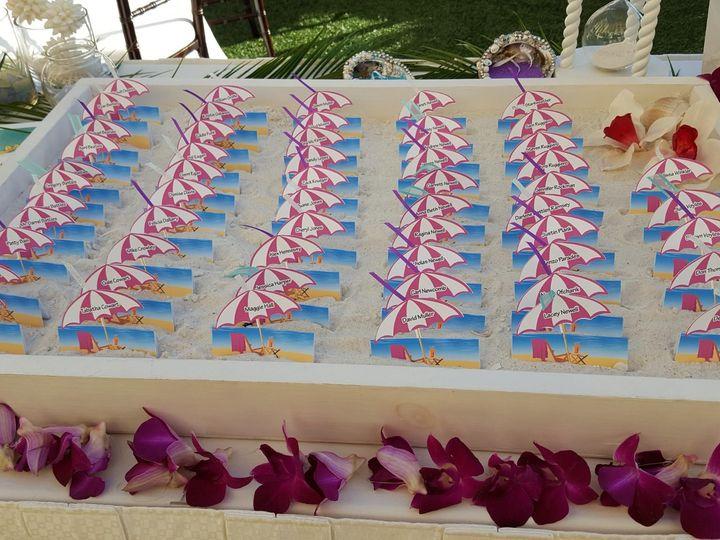 Tmx Sandpearl Umbrella Escort Cards In Sand 51 63037 157556463020874 Tampa, FL wedding planner