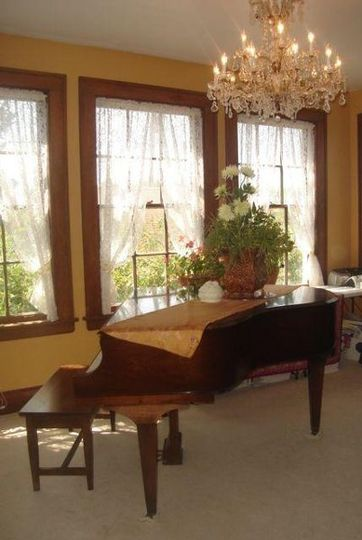 The piano in the parlor