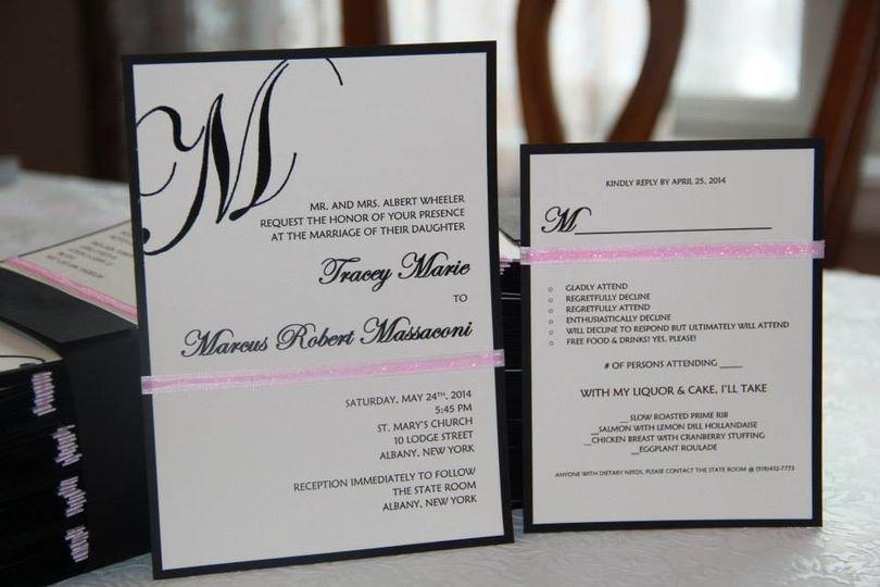 Classic and simple invite