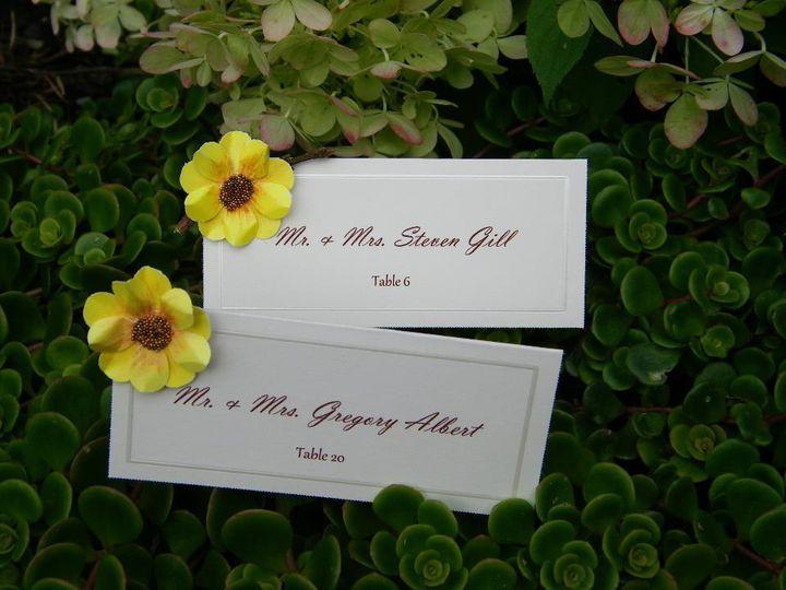 Sunflower placecards