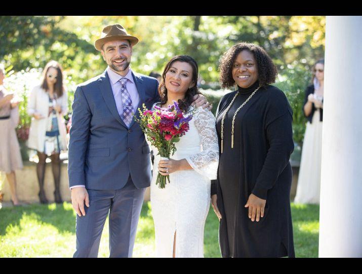 The bride, groom and myself
