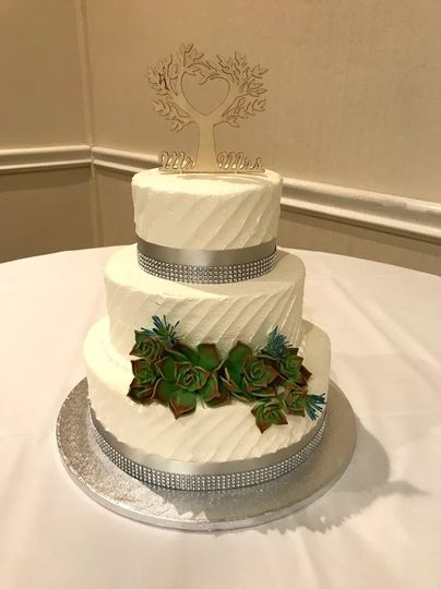 Succulant Wedding Cake
