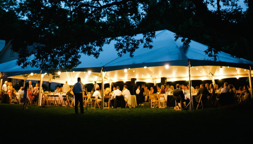 Hanna + Grant Wedding 40x80 Frame Tent at Horace Williams House
