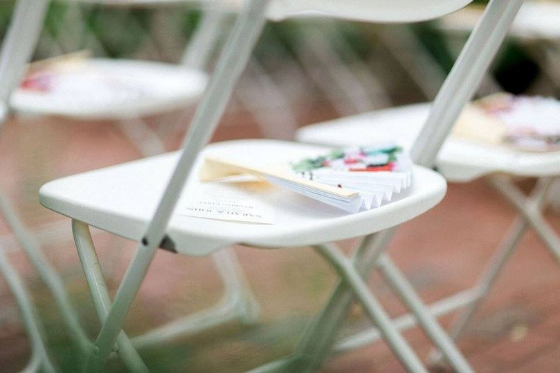 White Fanback Ceremony Chairs